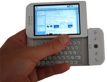 T-mobile G1 en ZebraSite beheer