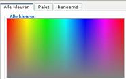 Selecteer elk gewenste kleur voor uw tekst