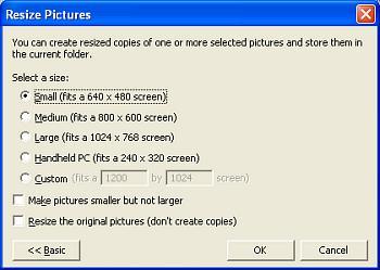 Image resizer,extra opties